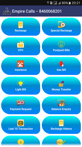 Online Mobile Recharge Software | Mobile Recharge App | Empire Calls